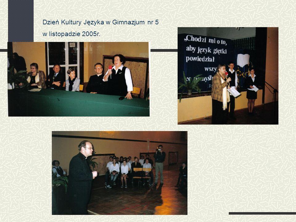 Dzień Kultury Języka w Gimnazjum nr 5 w listopadzie 2005r.
