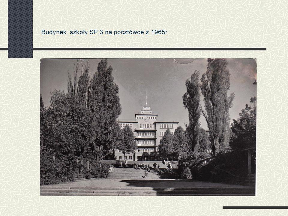 Budynek szkoły SP 3 na pocztówce z 1965r.