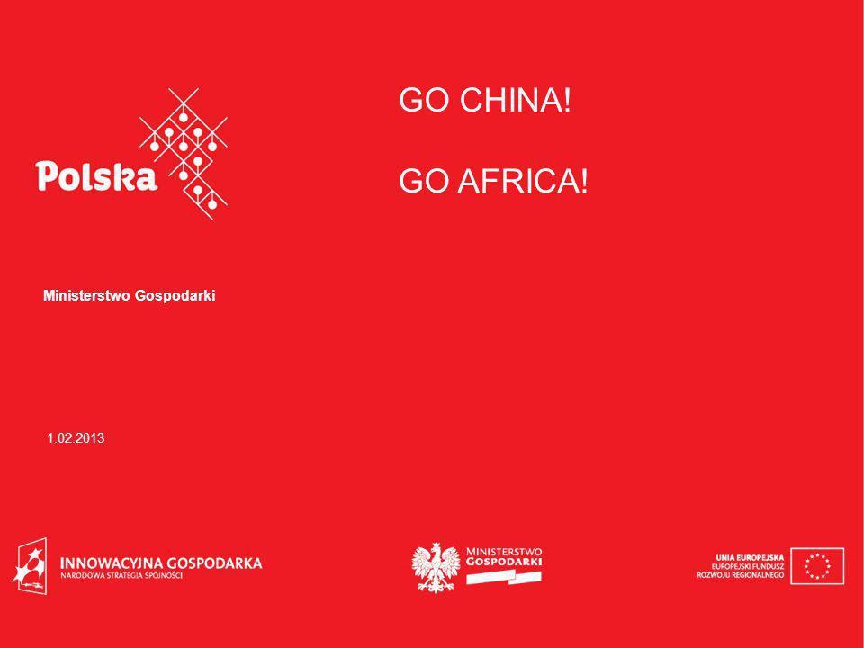 GO CHINA! GO AFRICA! Ministerstwo Gospodarki 1.02.2013
