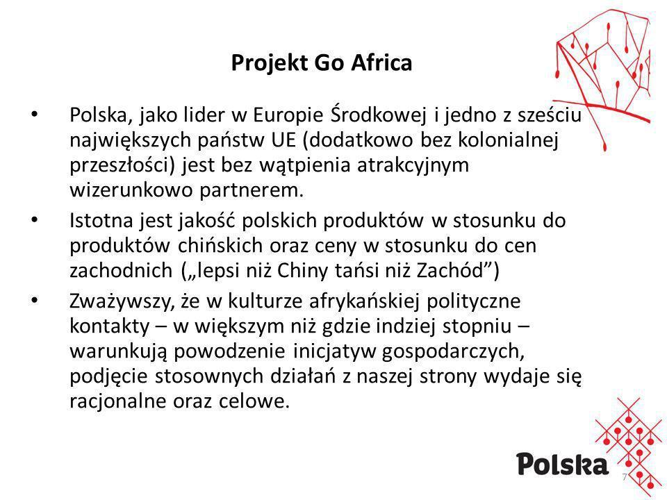 8 Celem projektu jest zwiększenie wymiany handlowej między Polską a kontynentem afrykańskim, zwłaszcza strefą subsaharyjską.