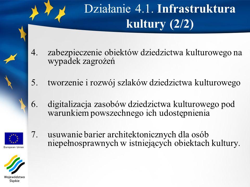 4.zabezpieczenie obiektów dziedzictwa kulturowego na wypadek zagrożeń 5.tworzenie i rozwój szlaków dziedzictwa kulturowego 6.digitalizacja zasobów dzi