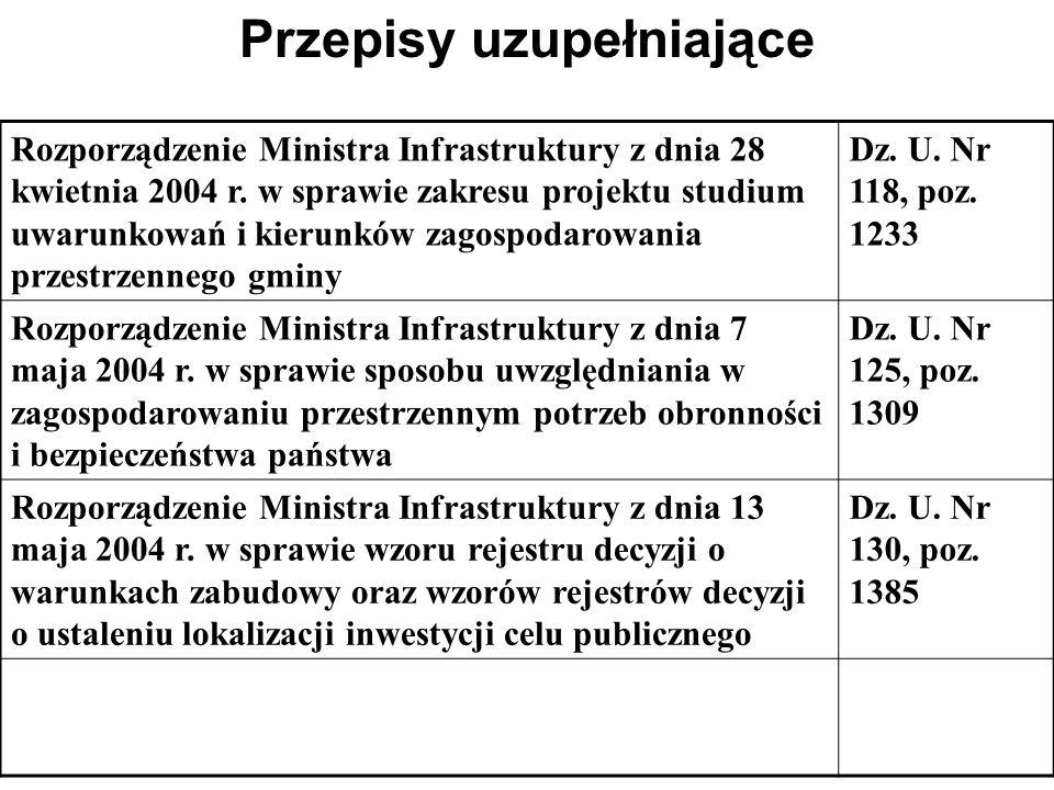 Przepisy uzupełniające Rozporządzenie Ministra Środowiska z dnia 14 listopada 2002 r. w sprawie szczegółowych warunków jakim powinna odpowiadać progno