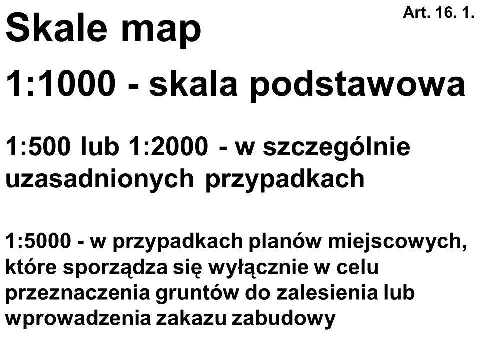 Art. 16. 1. Kopia map zasadniczych albo w przypadku ich braku map katastralnych, gromadzonych w państwowym zasobie geodezyjnym i kartograficznym. Podk