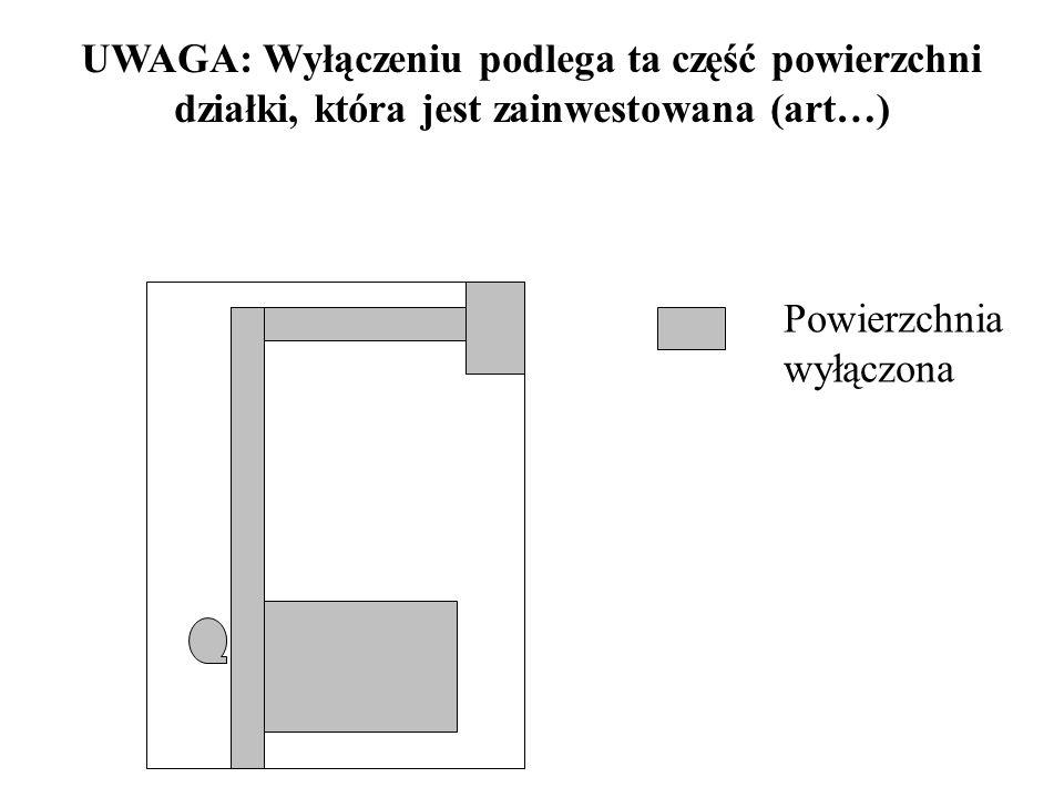 ZWOLNIENIA przy wyłączaniu GRUNTÓW ROLNYCH I LASÓW na cele budownictwa mieszkaniowego: do 0,05 ha w przypadku BUDOWNICTWA JEDNORODZINNEGO do 0,02 ha n