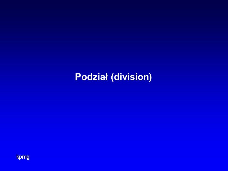 kpmg Podział (division)