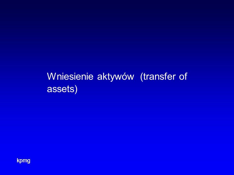 kpmg Wniesienie aktywów (transfer of assets)
