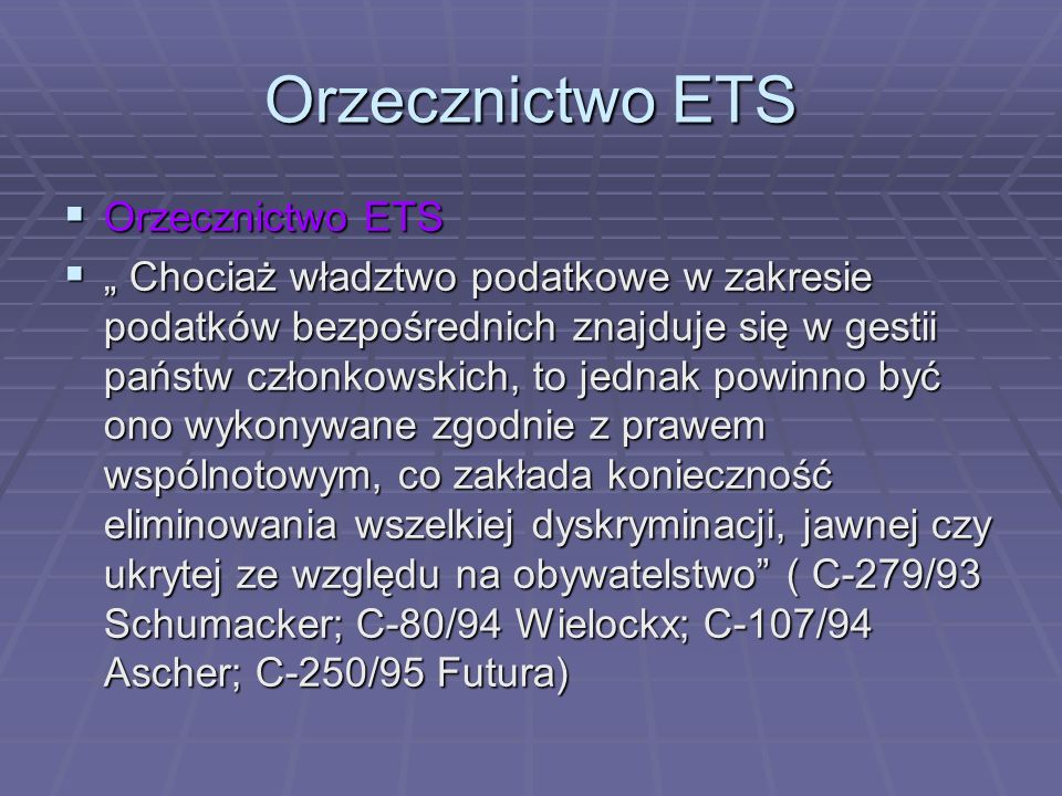 Orzecznictwo ETS - but makes that exemption subject to the condition that the holding be held in a company established in the Member State concerned, thus denying it to holders of shares in companies established in other Member States.