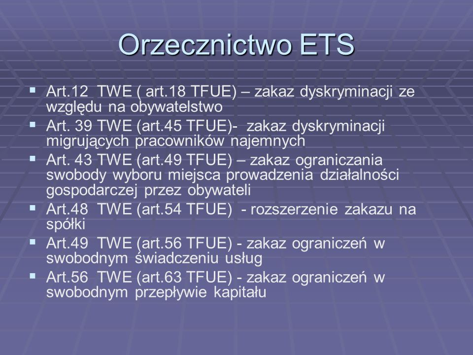 Orzecznictwo ETS C-315/02 Lenz C-315/02 Lenz