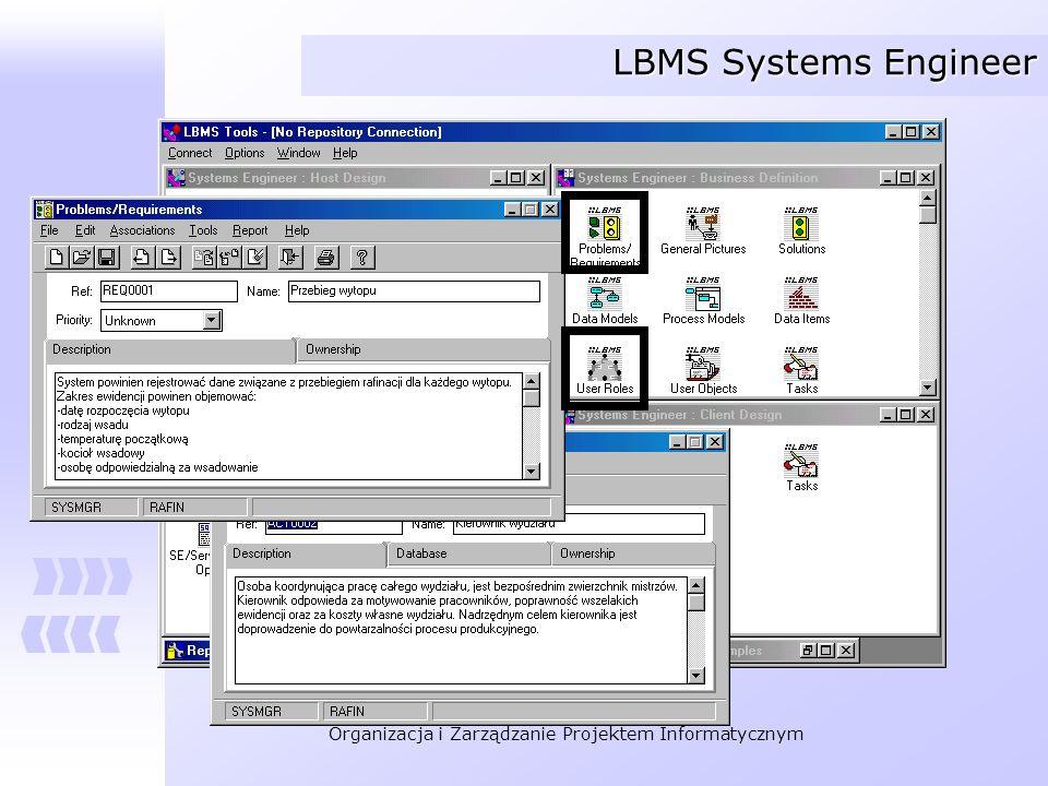 Organizacja i Zarządzanie Projektem Informatycznym LBMS Systems Engineer