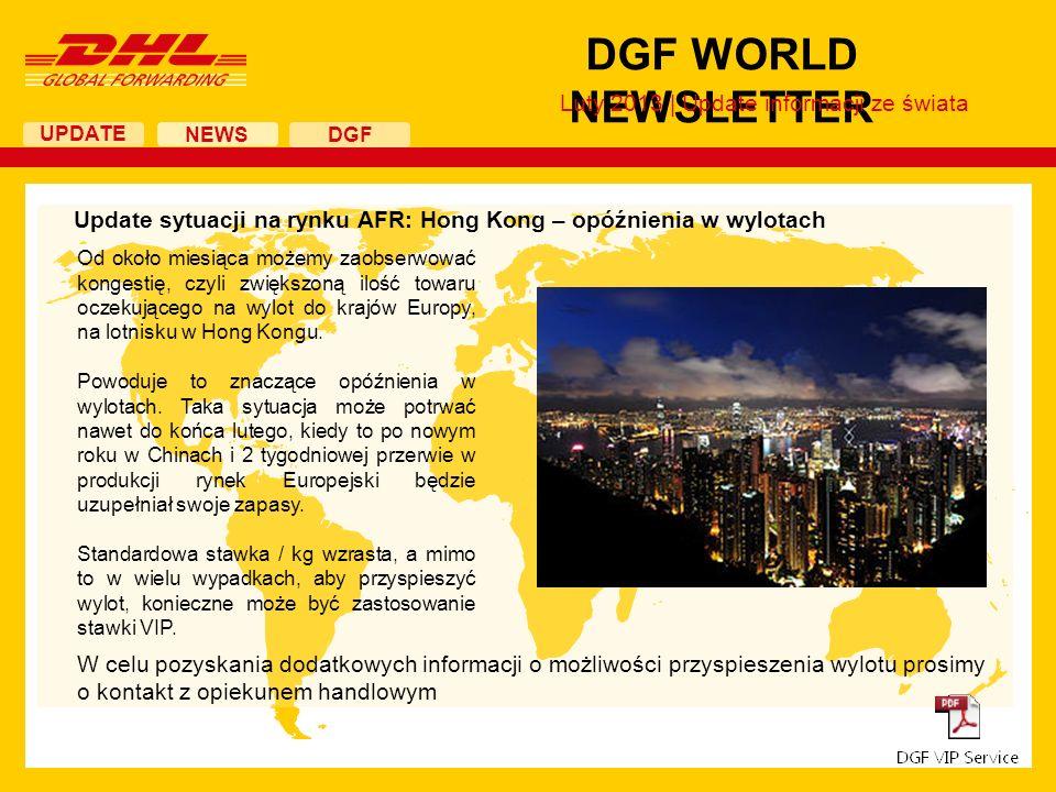 UPDATE DGF WORLD NEWSLETTER NEWS DGF Strajk w US – porozumienie Związków i Zarządu Portów W piątek, 1 lutego 2013 doszło do zawarcia wstępnego porozumienia pomiędzy Związkami Zawodowymi a Zarządem Portów, które jest kontynuacją negocjowanego przez ostatnie poł roku kontraktu.