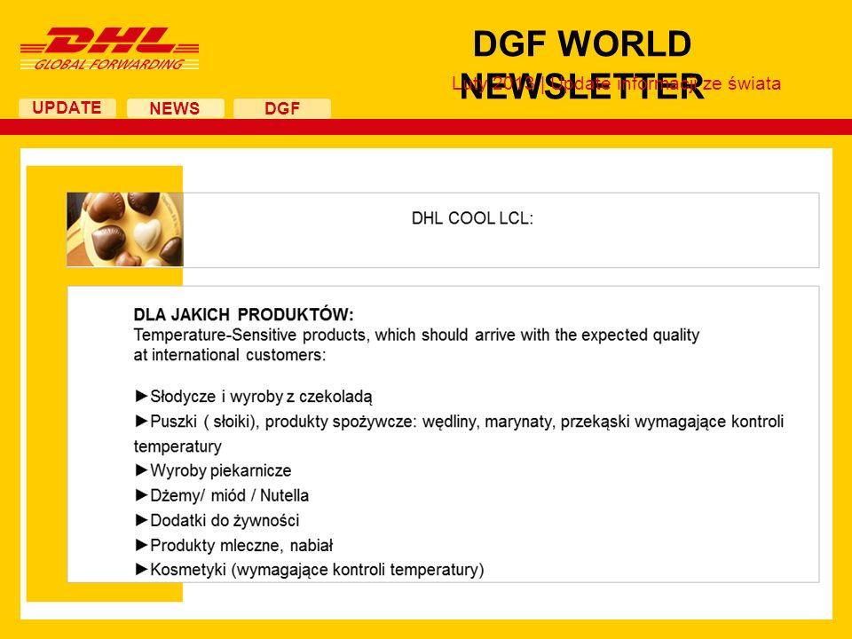 UPDATE DGF WORLD NEWSLETTER NEWS DGF Luty 2013 | Update informacji ze świata