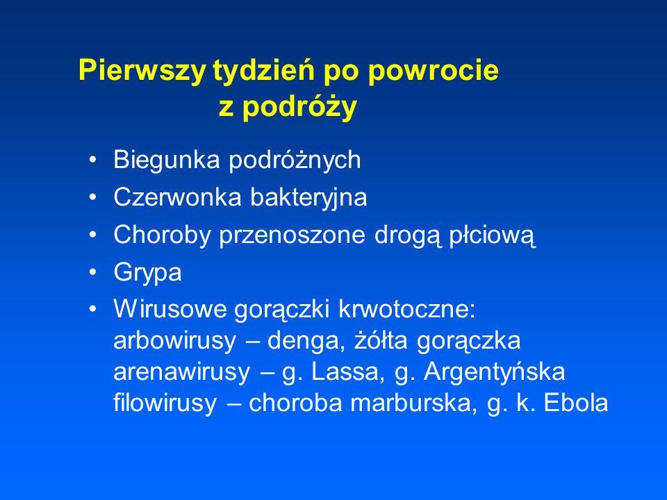 Epidemiologia 40% ludności kuli ziemskiej żyje na terenach endemicznych w ponad 100 krajach świata 300 - 500 mln nowych zachorowań rocznie 1,5 - 2,7 mln zgonów rocznie, 0,8 - 1,0 mln dzieci do 5 roku życia w Polsce zgłaszanych do PZH ok.