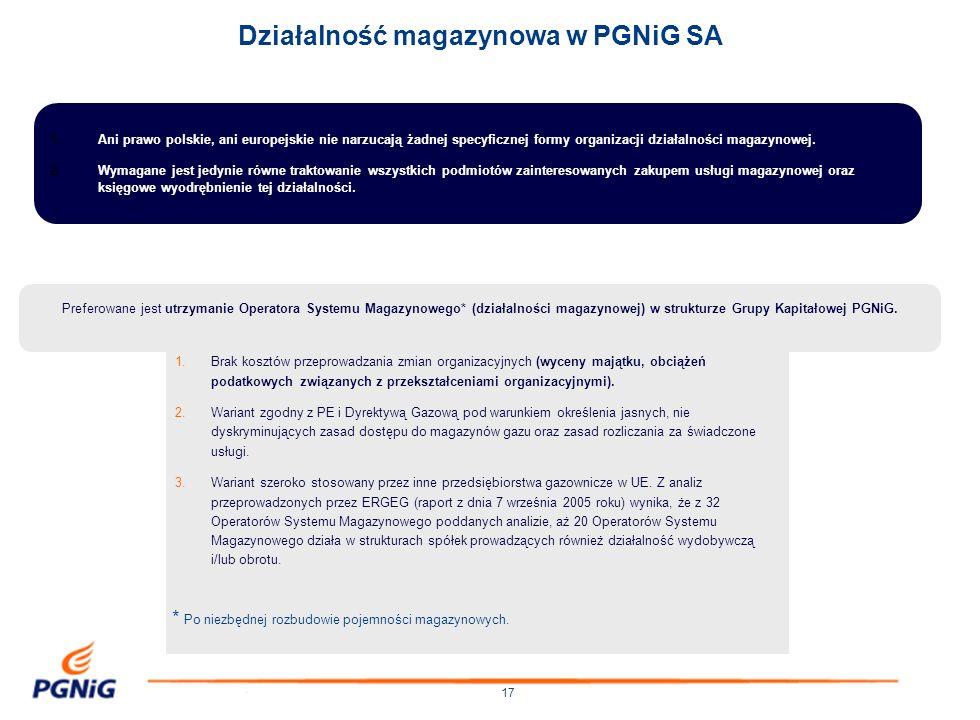 17 1.Ani prawo polskie, ani europejskie nie narzucają żadnej specyficznej formy organizacji działalności magazynowej. 2.Wymagane jest jedynie równe tr