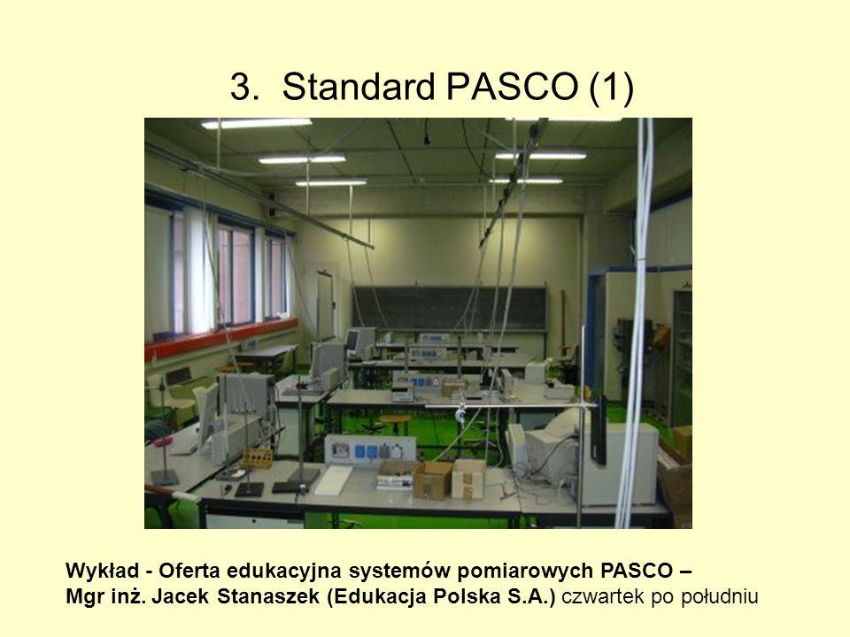 3.Standard PASCO (1) Wykład - Oferta edukacyjna systemów pomiarowych PASCO – Mgr inż.