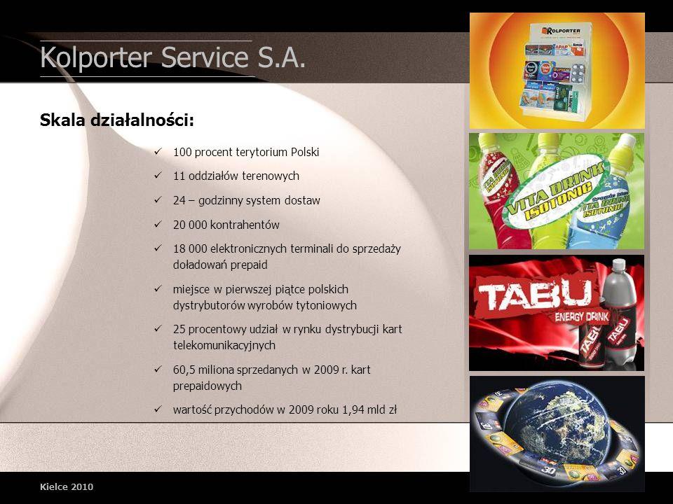 100 procent terytorium Polski 11 oddziałów terenowych 24 – godzinny system dostaw 20 000 kontrahentów 18 000 elektronicznych terminali do sprzedaży do