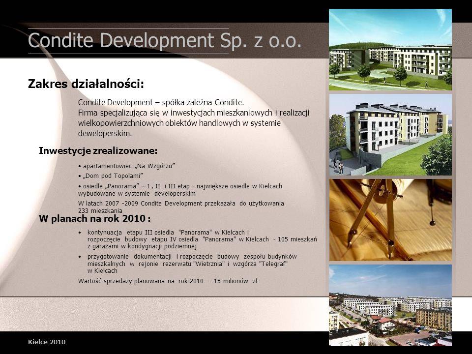 Condite Development Sp. z o.o. Kielce 2010 apartamentowiec Na Wzgórzu Dom pod Topolami osiedle Panorama – I, II i III etap - największe osiedle w Kiel