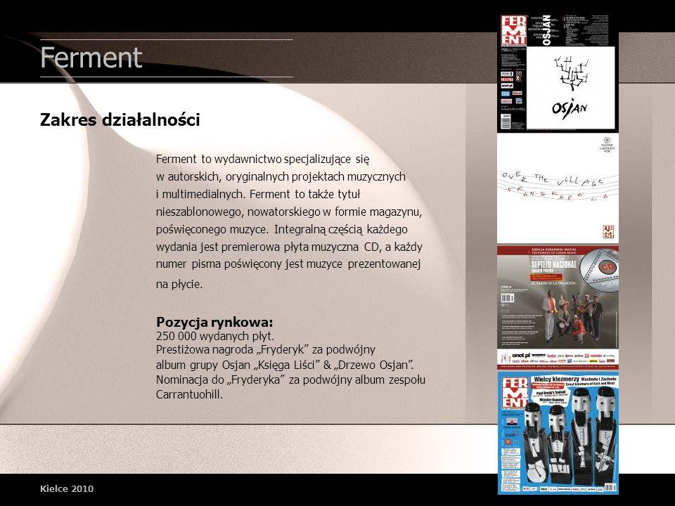 Ferment Ferment to wydawnictwo specjalizujące się w autorskich, oryginalnych projektach muzycznych i multimedialnych. Ferment to także tytuł nieszablo