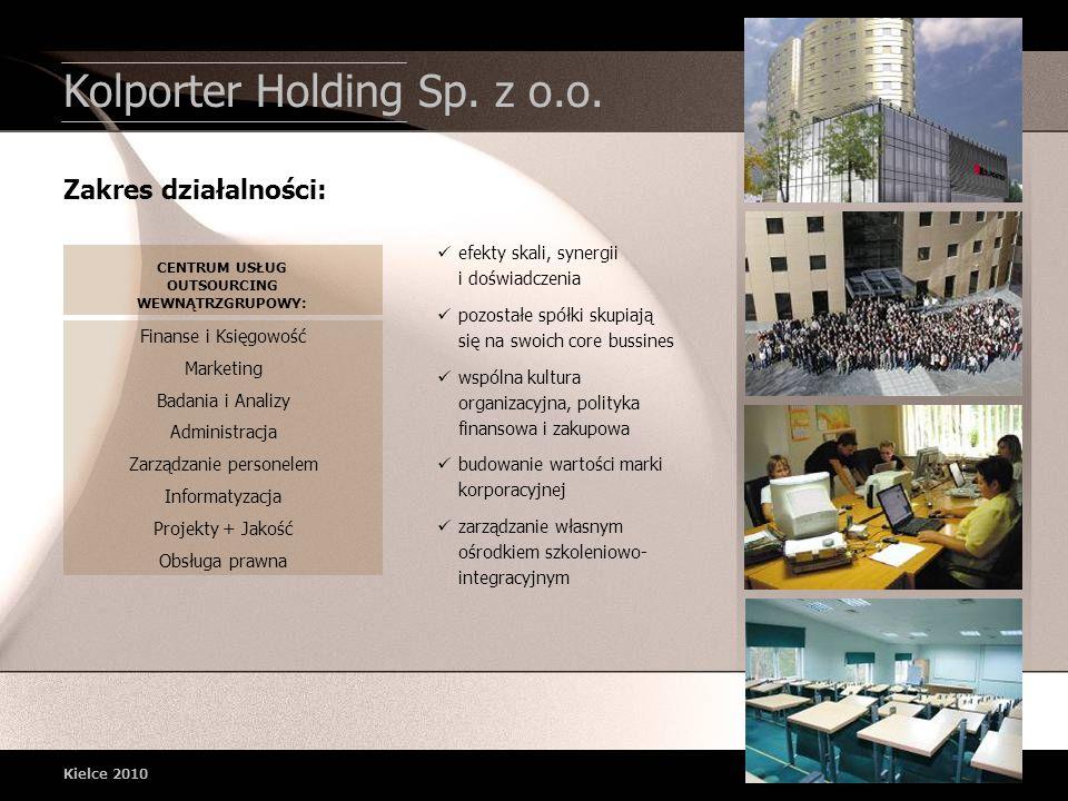 Kolporter Holding Sp. z o.o. efekty skali, synergii i doświadczenia pozostałe spółki skupiają się na swoich core bussines wspólna kultura organizacyjn