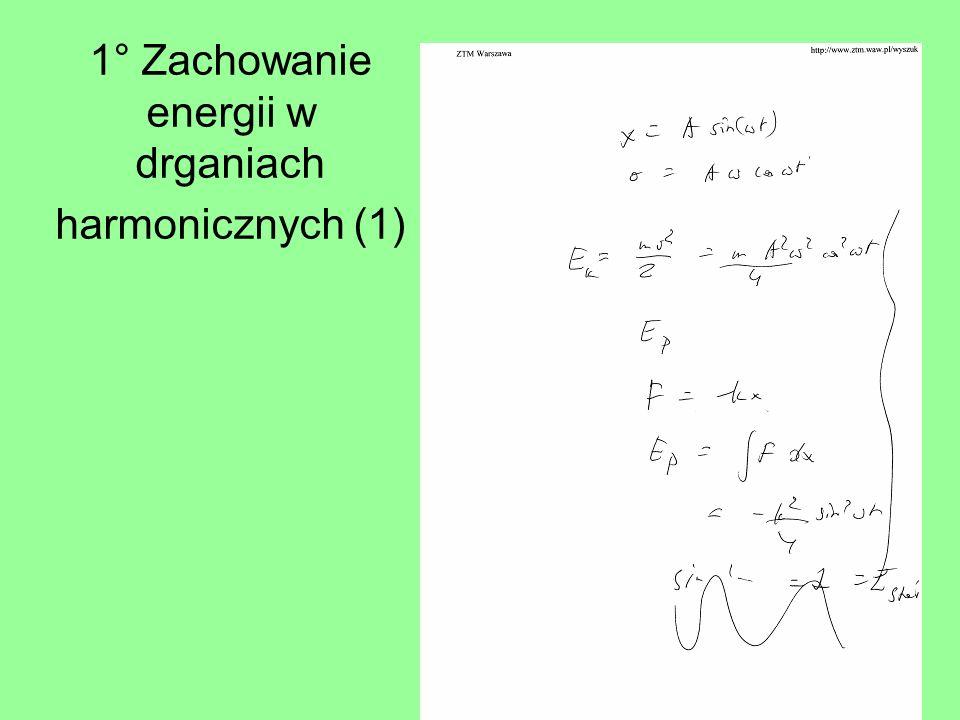 1° Zachowanie energii w drganiach harmonicznych (1)