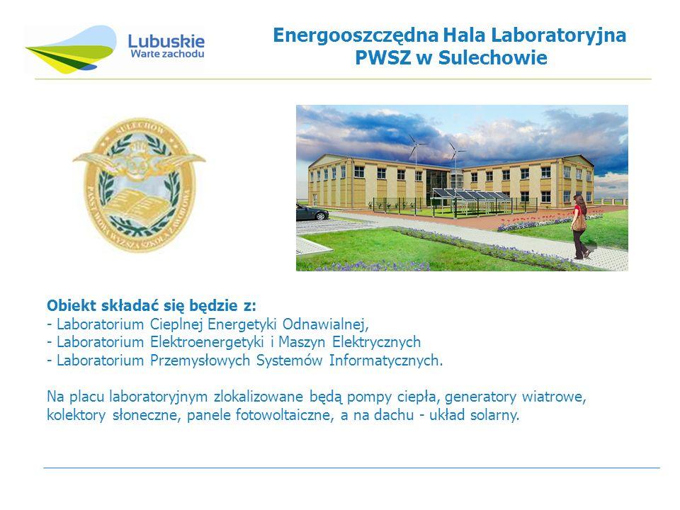 Obiekt składać się będzie z: - Laboratorium Cieplnej Energetyki Odnawialnej, - Laboratorium Elektroenergetyki i Maszyn Elektrycznych - Laboratorium Przemysłowych Systemów Informatycznych.