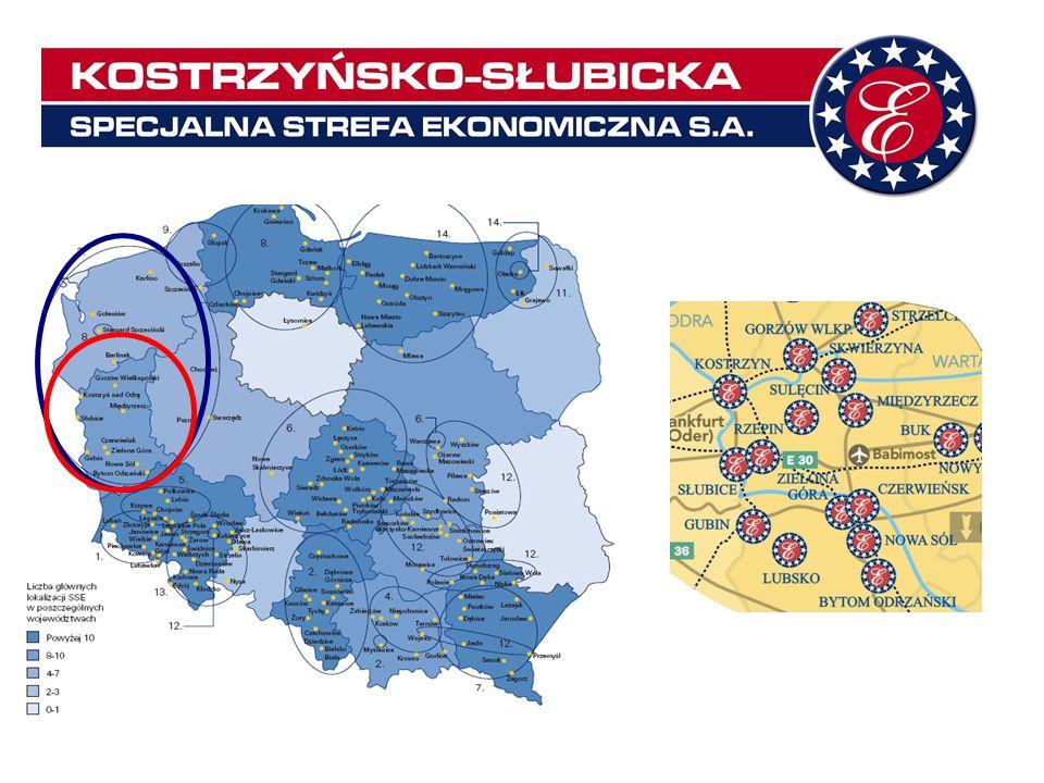 113 ważnych zezwoleń na działalność w Strefie – w tym 84 na terenie województwa lubuskiego 74 firm prowadzących działalność z zezwoleniem – w tym 55 w podstrefach województwa lubuskiego 3.786 mln zł – wartość inwestycji zrealizowanych w Strefie – w tym 2.348 mln na terenie województwa lubuskiego 17.252 osób – zatrudnienie w firmach działających w Strefie – w tym na terenie województwa lubuskiego – 8.463 osób 72.785.000 zł – zainwestowane w rozwój infrastruktury technicznej na obszarach Strefy – cała suma na terenie województwa lubuskiego 1329,78 ha – jedna z największych z czternastu SSE w Polsce – 836 ha na terenie województwa lubuskiego