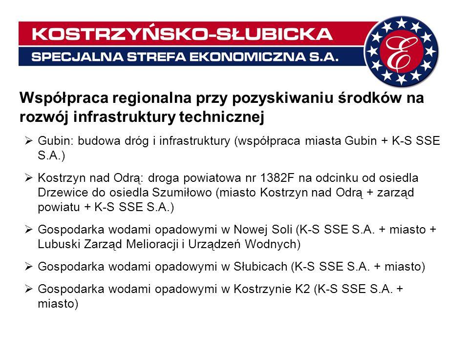 Współpraca regionalna przy pozyskiwaniu środków na rozwój infrastruktury technicznej Gubin: budowa dróg i infrastruktury (współpraca miasta Gubin + K-