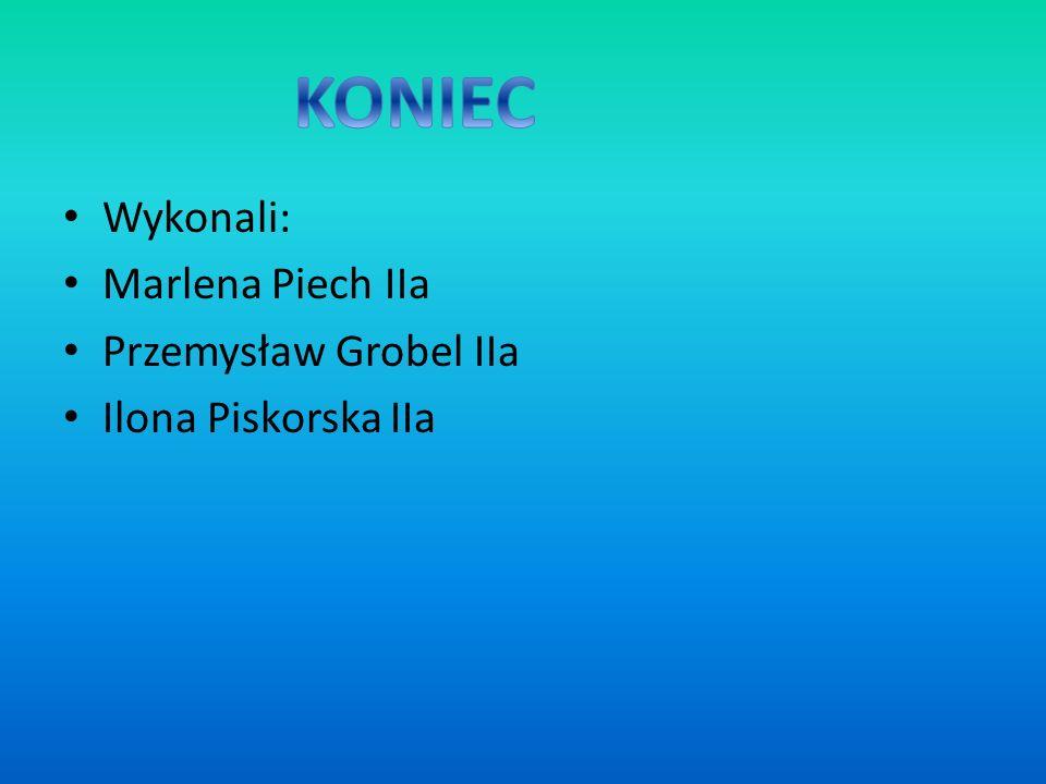 Wykonali: Marlena Piech IIa Przemysław Grobel IIa Ilona Piskorska IIa