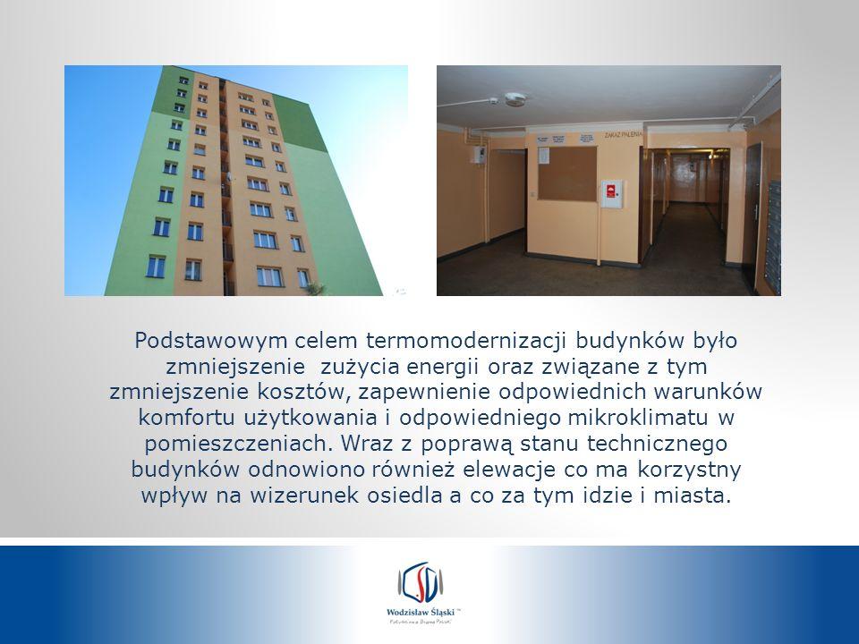 Podstawowym celem termomodernizacji budynków było zmniejszenie zużycia energii oraz związane z tym zmniejszenie kosztów, zapewnienie odpowiednich waru