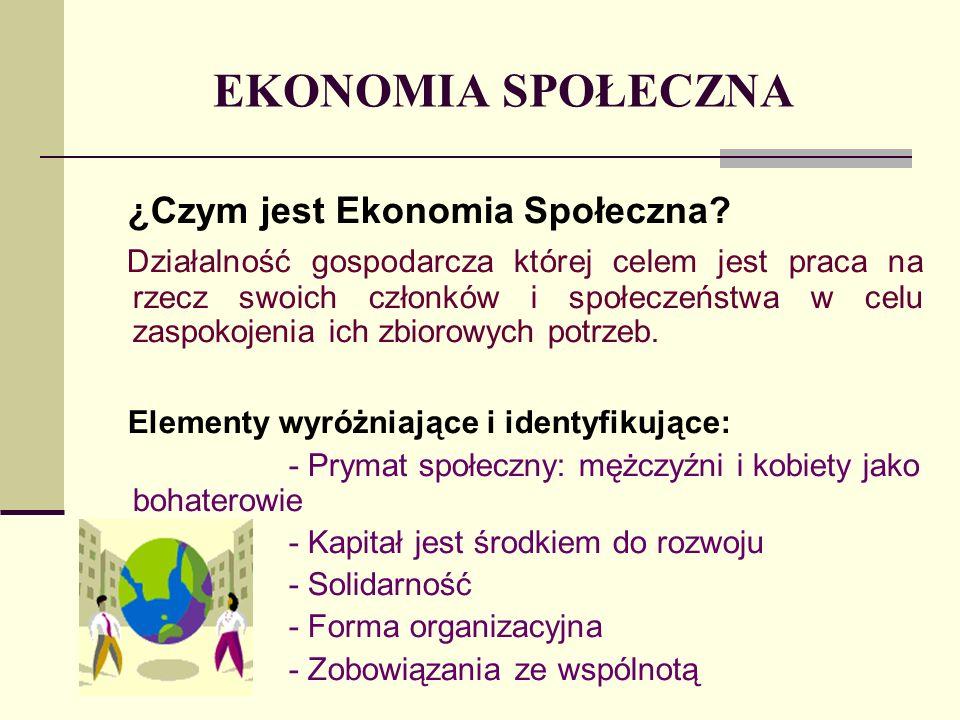 EKONOMIA SPOŁECZNA ¿Czym jest Ekonomia Społeczna.
