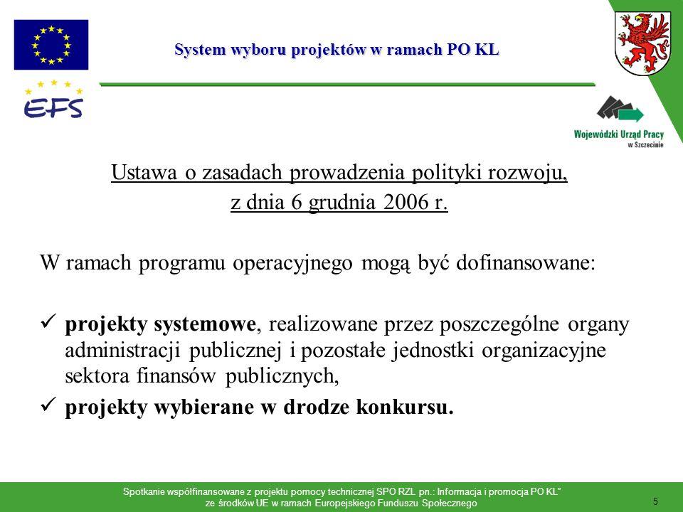 Spotkanie współfinansowane z projektu pomocy technicznej SPO RZL pn.: Informacja i promocja PO KL ze środków UE w ramach Europejskiego Funduszu Społecznego Komponent regionalny w PO Kapitał Ludzki Wsparcie zasobów ludzkich w regionie jako szansa na podniesienie spójności terytorialnej kraju oraz przyspieszenie zmian strukturalnych w regionach Wyzwania komponentu regionalnego: różnice w poziomie bezrobocia oraz w skali zatrudnienia pomiędzy poszczególnymi regionami kraju; regionalne zróżnicowanie rozwoju przedsiębiorczości (obszary przemysłów restrukturyzowanych, niewielka dywersyfikacja działalności gospodarczej na obszarach wiejskich); różnice w dostępie do edukacji, jak również w poziomie oferty edukacyjnej; problemy dotyczące rozwoju zasobów ludzkich odnoszące się do specyficznych obszarów geograficznych.