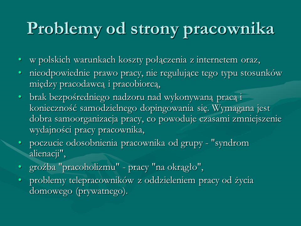 Problemy od strony pracownika w polskich warunkach koszty połączenia z internetem oraz,w polskich warunkach koszty połączenia z internetem oraz, nieod
