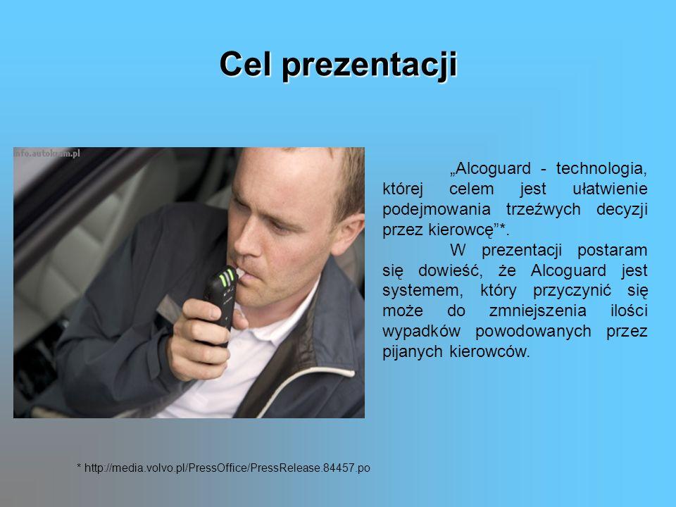 Cel prezentacji Alcoguard - technologia, której celem jest ułatwienie podejmowania trzeźwych decyzji przez kierowcę*. W prezentacji postaram się dowie