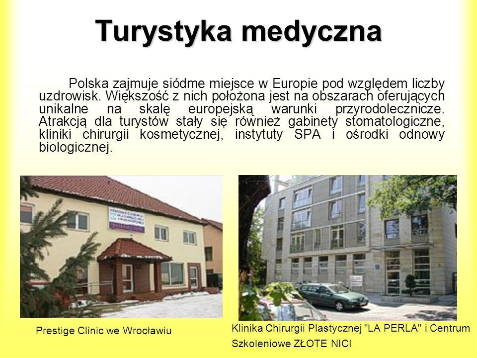 Turystyka medyczna Polska zajmuje siódme miejsce w Europie pod względem liczby uzdrowisk. Większość z nich położona jest na obszarach oferujących unik