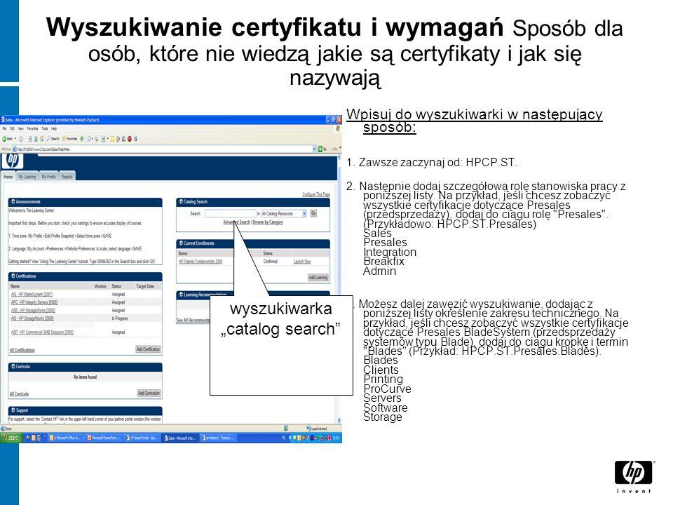 Wyszukiwanie certyfikatu i wymagań Sposób dla osób, które nie wiedzą jakie są certyfikaty i jak się nazywają Wpisuj do wyszukiwarki w następujący spos