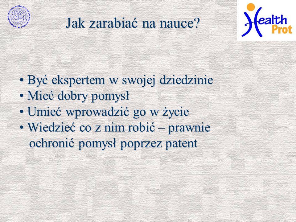 Czy w Polsce zarabia się na nauce.Liczba patentów międzynarodowych na 1 mln.