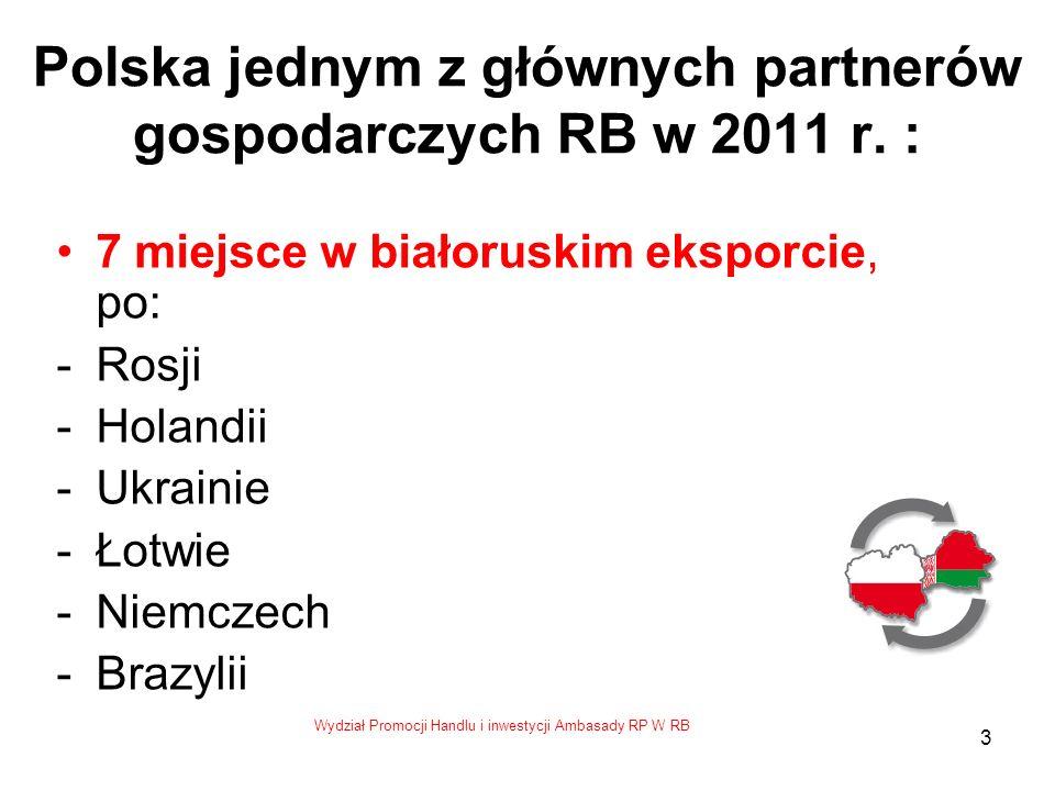 Wydział Promocji Handlu i inwestycji Ambasady RP W RB 3 Polska jednym z głównych partnerów gospodarczych RB w 2011 r.