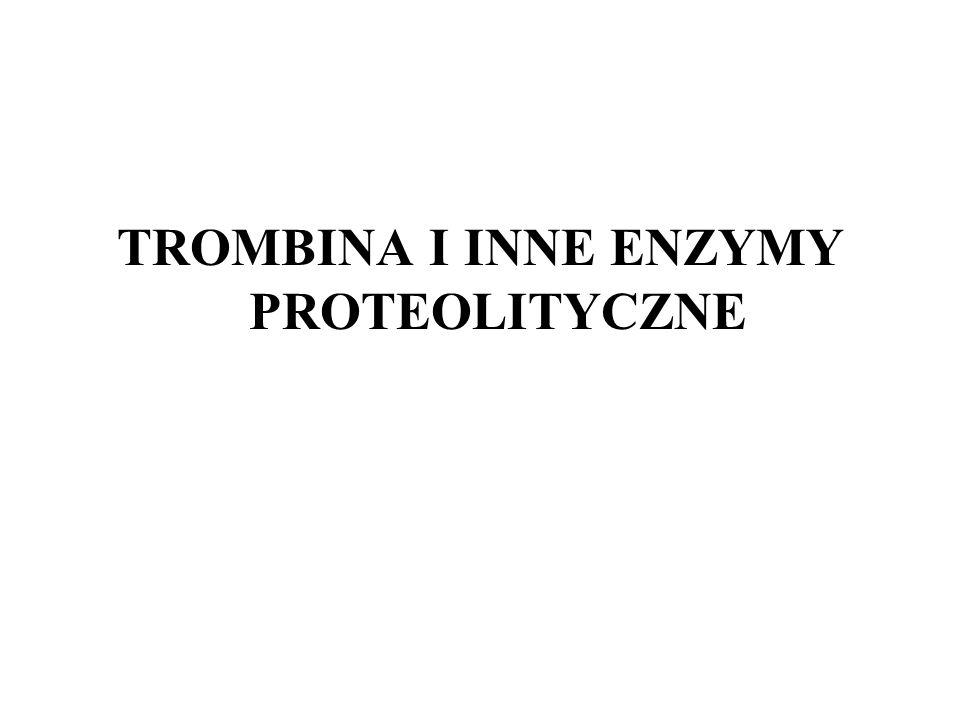 TROMBINA I INNE ENZYMY PROTEOLITYCZNE