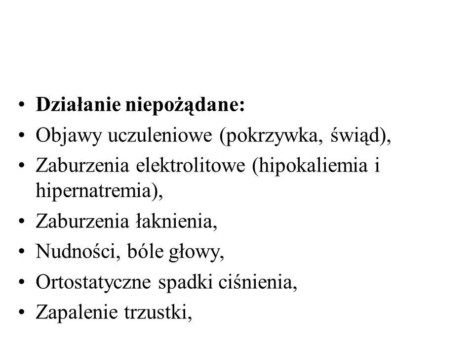 Preparaty: Hydrochlorotiazidum – tabl.