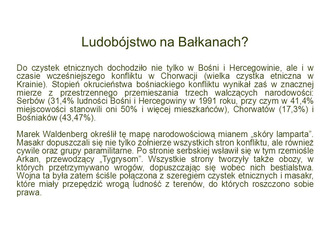 Ludobójstwo na Bałkanach? Do czystek etnicznych dochodziło nie tylko w Bośni i Hercegowinie, ale i w czasie wcześniejszego konfliktu w Chorwacji (wiel