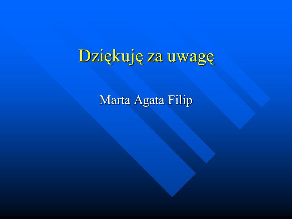Dziękuję za uwagę Marta Agata Filip