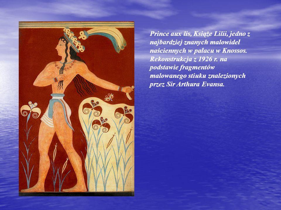 Prince aux lis, Książe Lilii, jedno z najbardziej znanych malowideł naściennych w pałacu w Knossos.