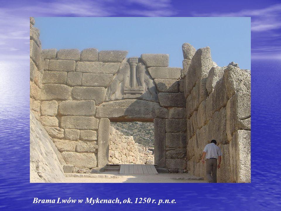 Brama Lwów w Mykenach, ok. 1250 r. p.n.e.