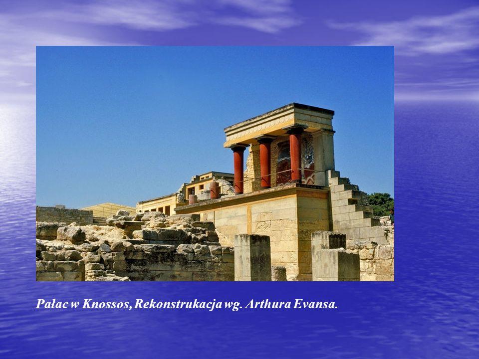 Pałac w Knossos, Rekonstrukacja wg. Arthura Evansa.