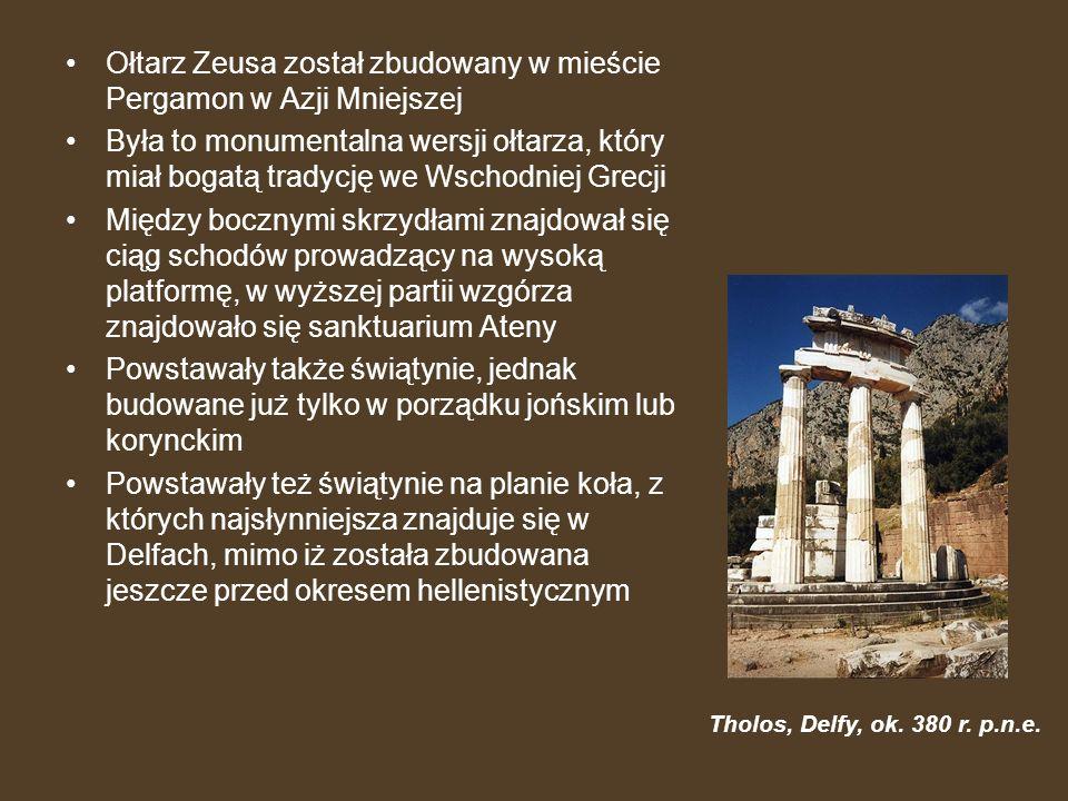 Ołtarz Zeusa został zbudowany w mieście Pergamon w Azji Mniejszej Była to monumentalna wersji ołtarza, który miał bogatą tradycję we Wschodniej Grecji