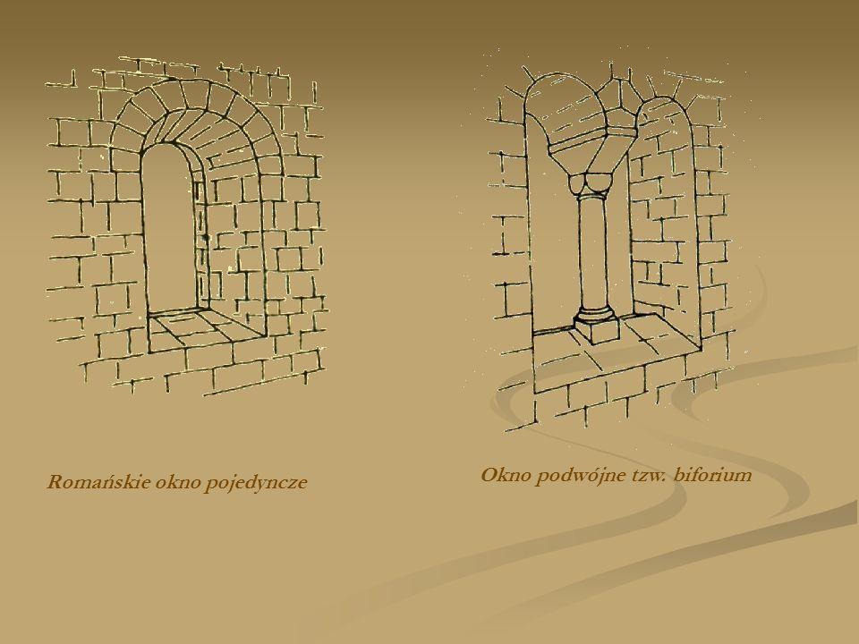 Romańskie okno pojedyncze Okno podwójne tzw. biforium