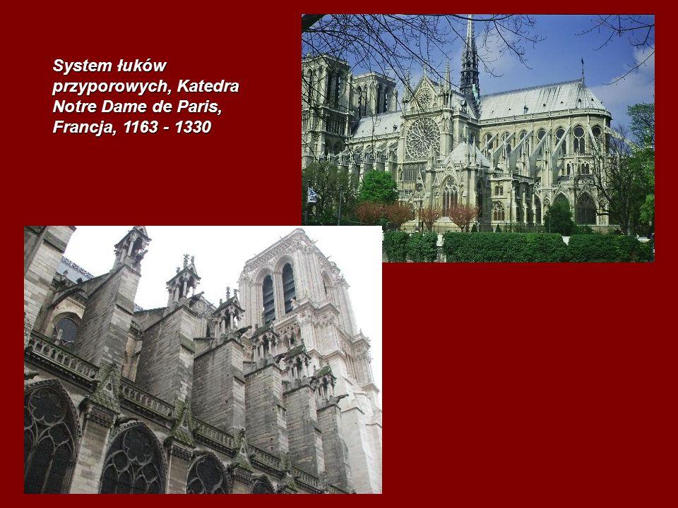 System łuków przyporowych, Katedra Notre Dame de Paris, Francja, 1163 - 1330