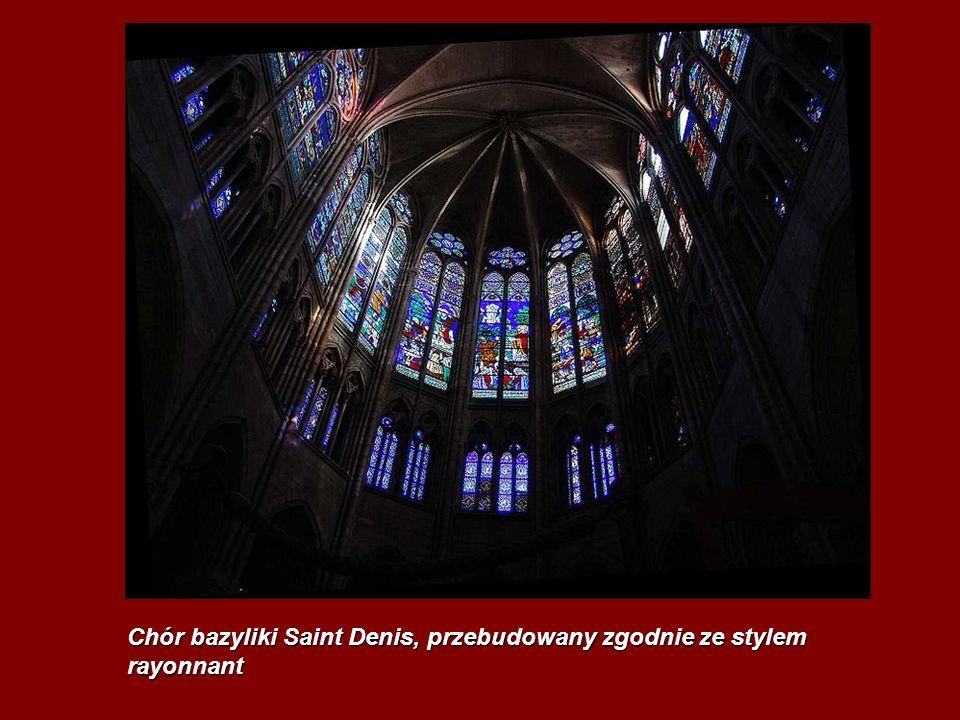 Chór bazyliki Saint Denis, przebudowany zgodnie ze stylem rayonnant