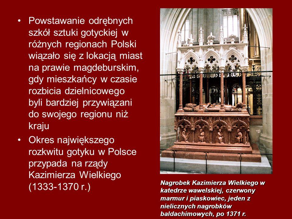 Powstawanie odrębnych szkół sztuki gotyckiej w różnych regionach Polski wiązało się z lokacją miast na prawie magdeburskim, gdy mieszkańcy w czasie ro
