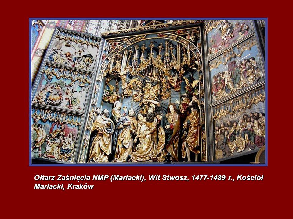 Ołtarz Zaśnięcia NMP (Mariacki), Wit Stwosz, 1477-1489 r., Kościół Mariacki, Kraków