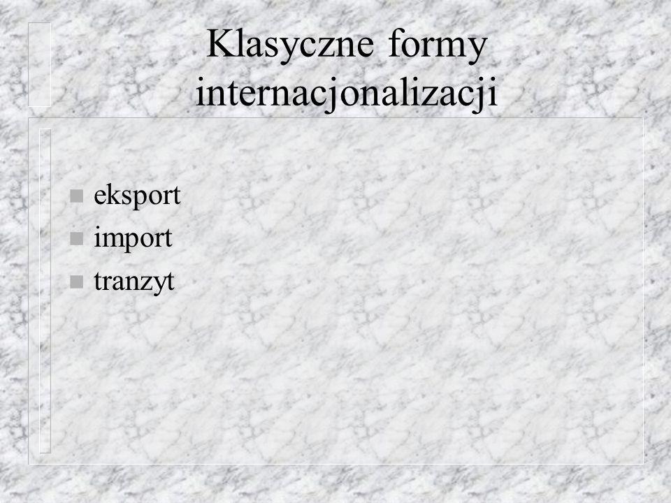 BIZ w Polsce Szczególnie uzasadnionym jest: n monitorowanie zjawiska bezpośrednich inwestycji zagranicznych w Polsce n badanie i analiza związków strukturalnych pomiędzy BIZ a ich wpływem na rozwój i zmiany struktury handlu zagranicznego w Polsce jako istotnego parametru struktury ekonomicznej i konkurencyjności gospodarki